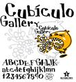 Illustration of font CUBICULOGALLERY SERIF