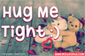 Illustration of font Hug Me Tight