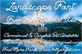 Illustration of font Landscape PERSONAL USE