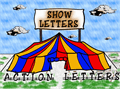 Illustration of font ShowLetters