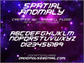 Illustration of font Spacial Anomoly