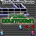 Illustration of font Pixel Countdown