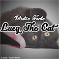 Illustration of font Lucy the Cat