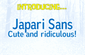 Illustration of font Japari Sans