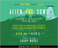 Illustration of font aliens and cows