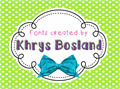 Illustration of font KBFunkyGlasses