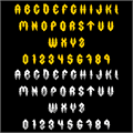 Illustration of font Fury Storm Personal Use