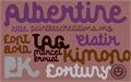 Illustration of font Albertine