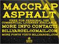 Illustration of font maccrap asphalt personal use