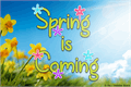 Illustration of font Spring is Coming