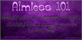 Illustration of font Aimless 101