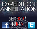 Illustration of font EXPEDITION ANNIHILATION