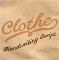 Illustration of font Clothe PERSONAL USE ONLY