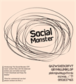 Illustration of font Social Monster