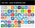 Illustration of font Social Networking Icons