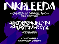 Illustration of font Inkbleeda