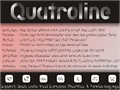 Illustration of font Quatroline