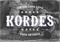 Illustration of font Kordes