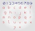 Illustration of font WS Inkski