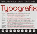 Illustration of font Typografix