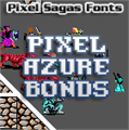 Illustration of font Pixel Azure Bonds