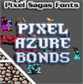 Illustration of font Pixel Azure Bonds