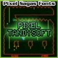 Illustration of font Pixel Tandysoft