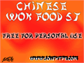 Illustration of font Chinese Wok Food St