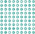 Illustration of font icons social media