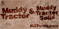 Illustration of font Muddy Tractor