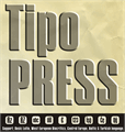 Illustration of font Tipo PRESS