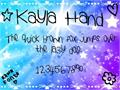 Illustration of font KaylaHand