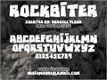 Illustration of font RockBiter