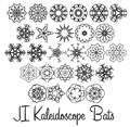 Illustration of font JI Kaleidoscope Bats