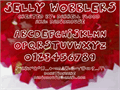 Illustration of font Jelly Wobblers