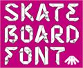 Illustration of font Skateboardfont