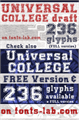 Illustration of font UNIVERSAL-COLLEGE-draft