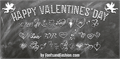Illustration of font HAPPY VALENTINE'S DAY