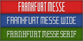 Illustration of font Frankfurt Messe