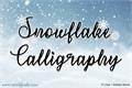 Illustration of font Snowflake Calligraphy