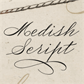 Illustration of font Medish Deco PERSONAL USE ONLY