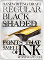 Illustration of font handwriting-draft-shaded demo