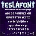 Illustration of font TESLAFONT