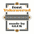 Illustration of font Yokawerad
