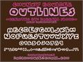 Illustration of font Chunky Boulder Outlines