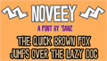 Illustration of font Noveey
