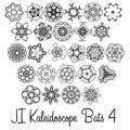 Illustration of font JI Kaleidoscope Bats 4