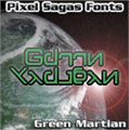 Illustration of font Green Martian