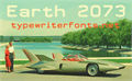 Illustration of font Earth 2073