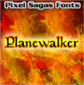 Illustration of font Planewalker